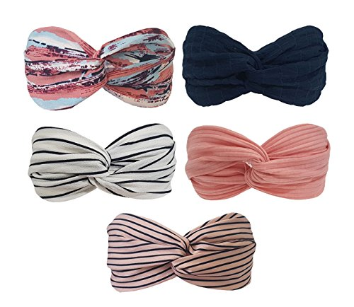 5 Pack Headbands Headwrap Hair Band Elastics Hair Accessories For Women Girl (F43) : Beauty