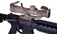 Monstrum 1-4x20 Rifle Scope with Offset Cantilever Scope Mount and Flip Up Lens Covers | Flat Dark Earth : Sports & Outdoors