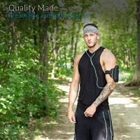 Sports Headband: UNISEX Fitness Headbands For Women & Men. Blue Head Band Sweatband for Running, Yoga, Workout Gym Exercise. NO SLIP Sport Sweatbands & Sweat Wicking Athletic Head Wrap Bands Over Hair: Clothing