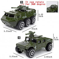 22 Pack Die-cast Military Vehicles Sets with 1 Playmat,Assorted Alloy Metal Army Models Car Toys and Soldier Army Men,Tank,Jeep,Panzer,Anti-Air Vehicle,Helicopter Playset, Playmat for Kids Boys: Toys & Games