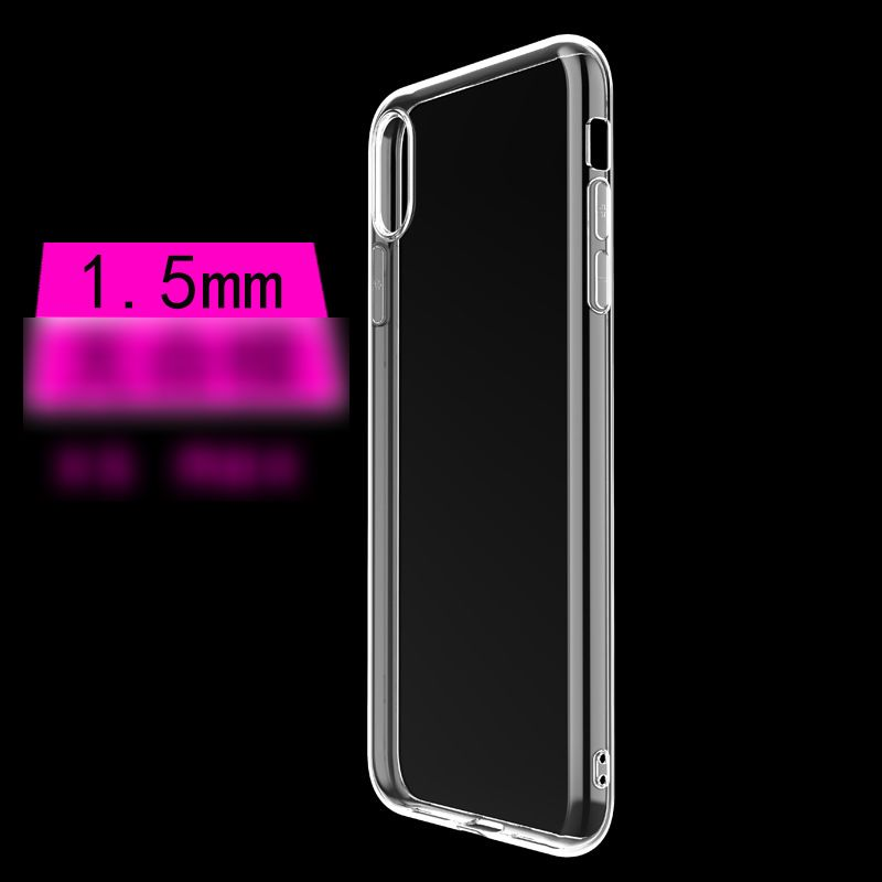 Clear Anti-Scratch Shock Absorption Cover Case for iPhones