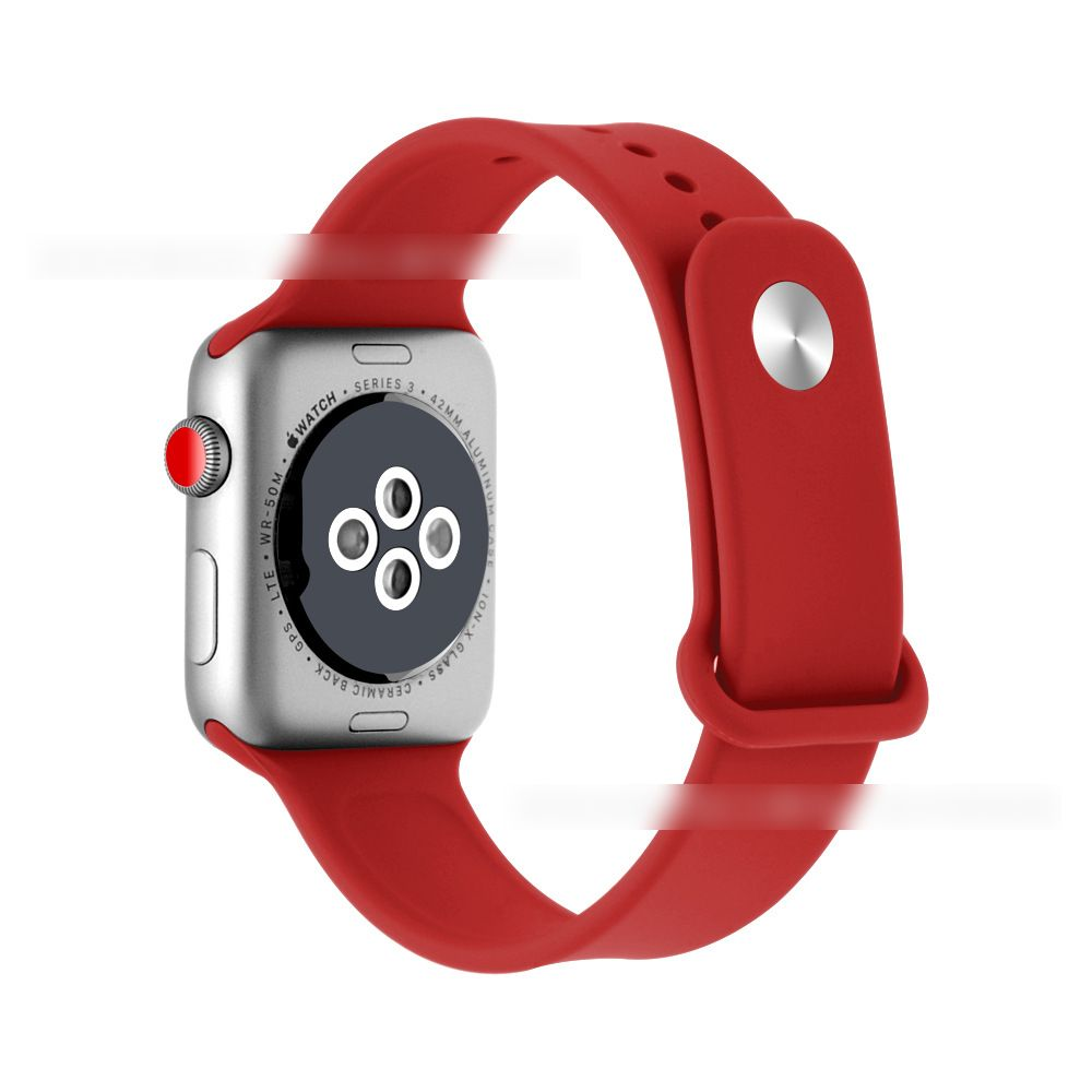 Soft Silicone Sport Band  Compatible Apple Watch Band 38mm 42mm 40mm 44mm,