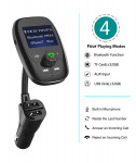 Bluetooth Car FM Transmitter Audio and Charger