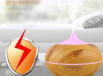 Wood Grain Incense Machine Home Essential Oil Aromatherapy Machine   Mute Ultrasonic Air Humidifier
