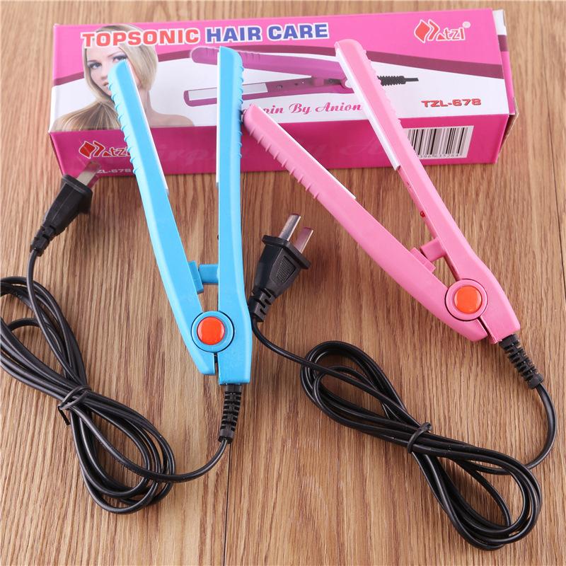 Portable Electric Splint A658 Mini Ceramic Hair Straightener Ion Perm Bangs Clip Straight Board