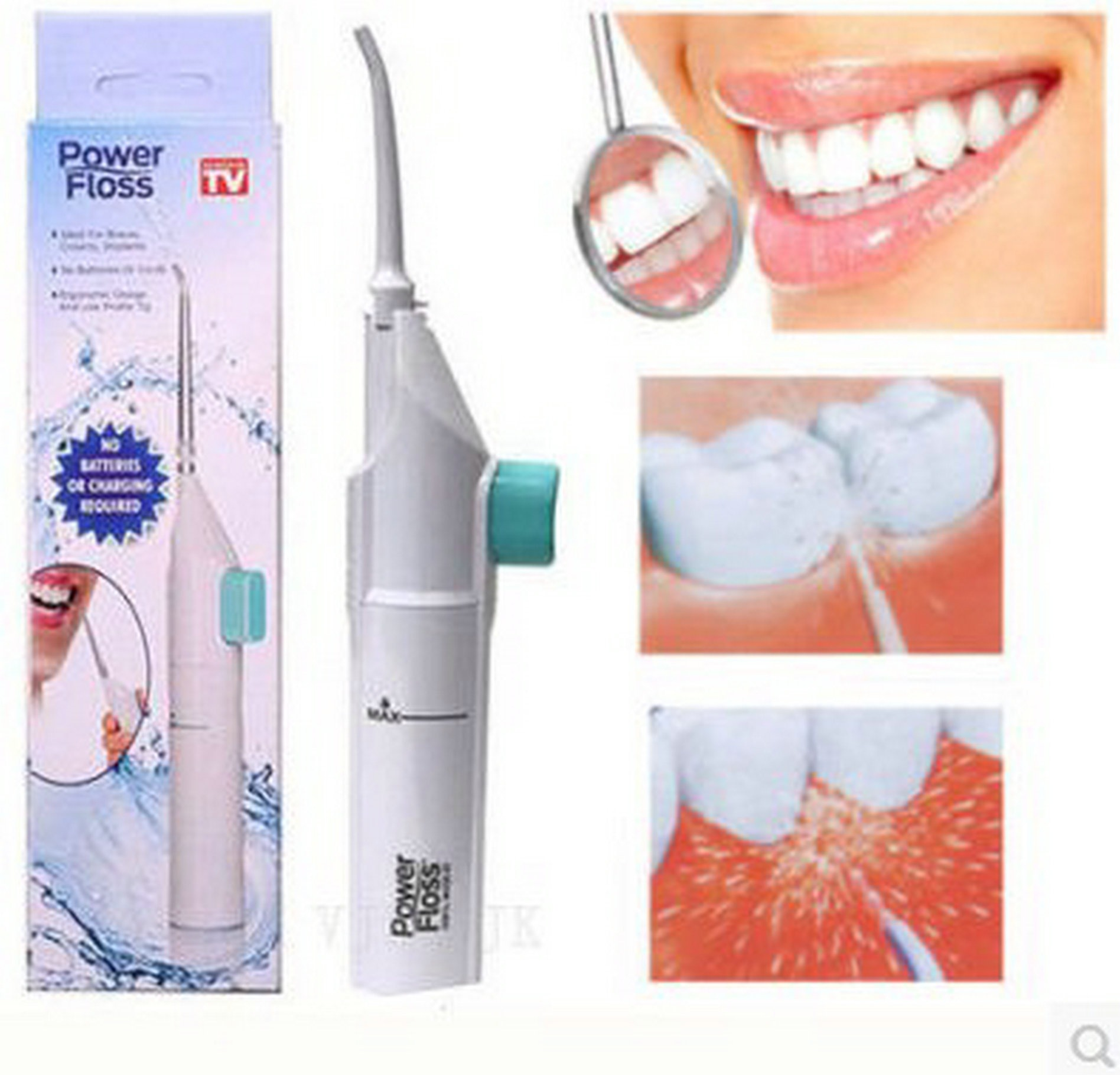 AirFloss Rechargeable Electric Flosser for Cleaning Teeth