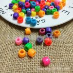 A Large Number Of Stock 6*9mm Barrel Beads Diy Color Plastic Large Hole Beads Necklace Bracelet Beads