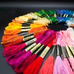 Non-cotton Cross Stitch Threads