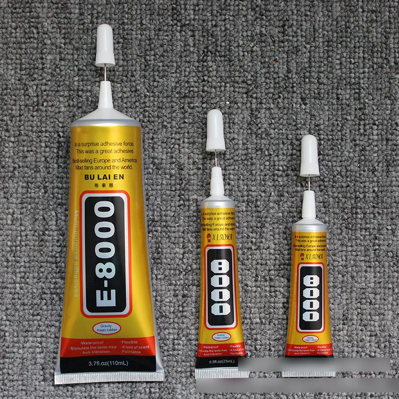 E8000 Glue Stickers Clothes Signs Plastic Crafts Metal Jewelry Stick Drill Point Drill Mobile Phone Shell DIY