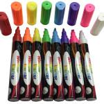 Liquid Chalk Marker Pen for Chalkboard Signs, Windows, Blackboard, Glass - 6mm Reversible Tip