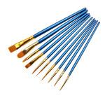 10 Pearl Blue Watercolor Brush Set