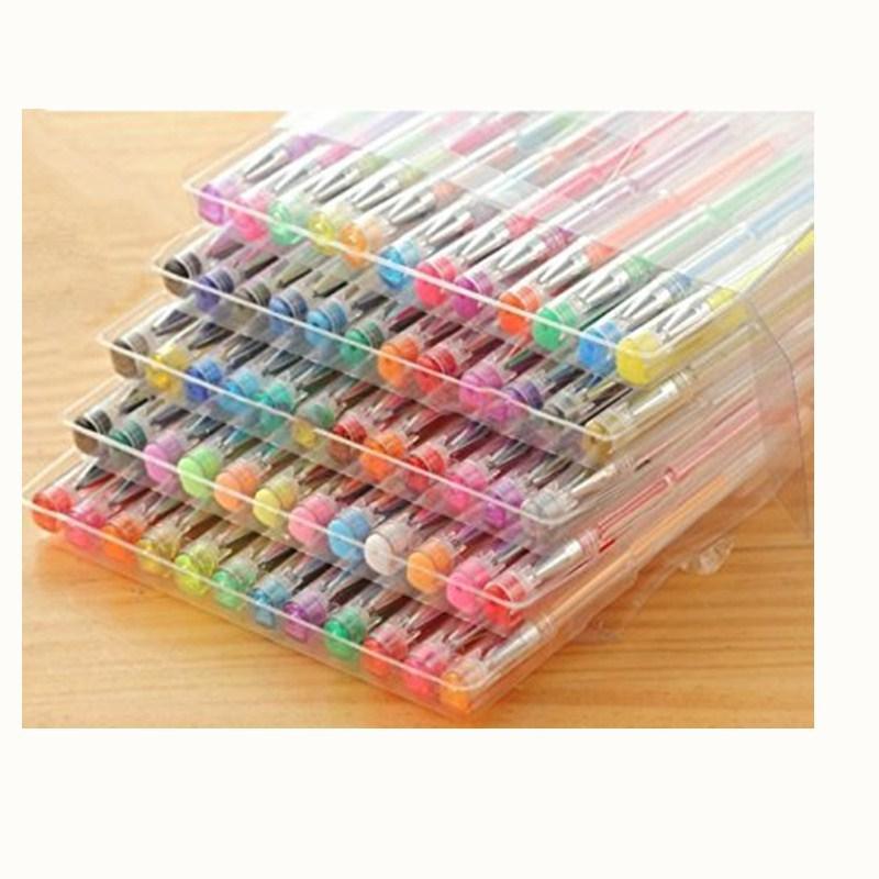 100 Colored Gel Metal Pastel Pens