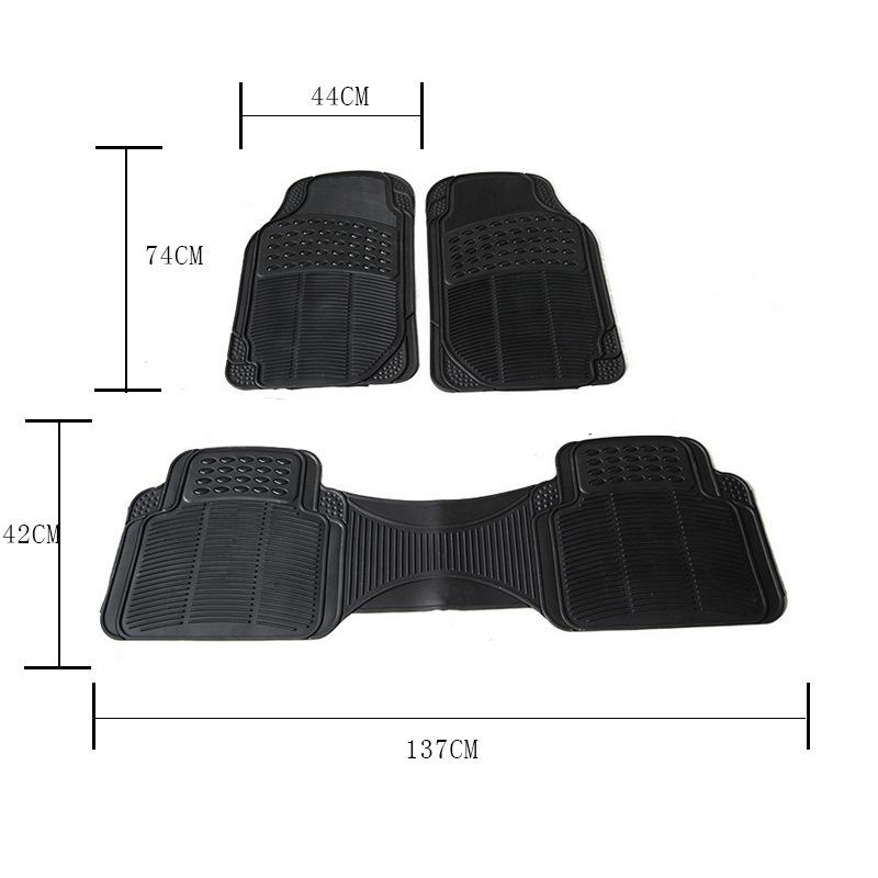Car Siamese Foot Pad 3 Sets Of PVC Waterproof Non-slip Four Seasons Universal Foot Pad     Sales