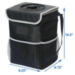 Folding Waterproof Car Trash Storage Bag Car Seat Back Hanging Trash Can