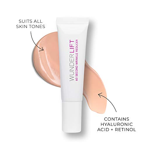 WUNDER2 WUNDERLIFT 60 Second Wrinkle Reducer - Lightweight Under Eye Cream to Reduce Lines and Dark Circles with Retinol and Hyaluronic Acid, 0.40 Fl Oz: Wunderbrow: Beauty
