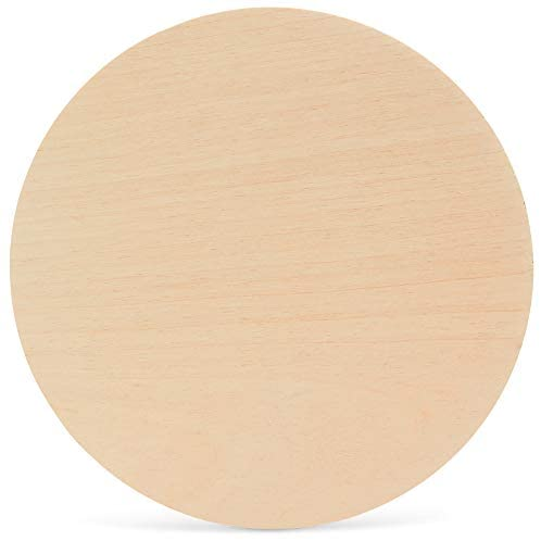 18 Inch Wooden Circle, 1/4 Inch (6mm) Thick Unfinished Baltic Birch Wood by Woodpeckers