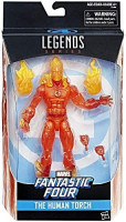 Fantastic Four Marvel Legends The Human Torch Exclusive Action Figure: Toys & Games