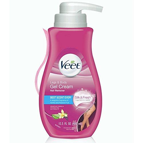 Veet Gel Hair Remover Cream, Sensitive Formula, 13.5 oz (Pack of 5) : Beauty
