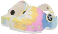 Crocs Kids' Classic Tie Dye Clog | Slip On Shoes for Boys and Girls, Pastel, 13 US Little Kid | Clogs & Mules