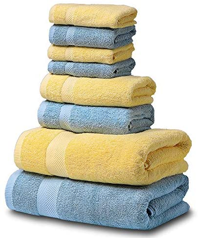 SEMAXE Luxury Bath Towel Set. Hotel & Spa Quality. 2 Large Bath Towels, 2 Hand Towels, 4 Washcloths. Premium Collection Bathroom Towels. Soft, Plush and Highly Absorbent.: Home & Kitchen