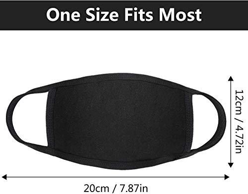 Reusable Cotton Fabric,Fashion Protective, Unisex Black Dust Cotton, Washable (15PCS): Beauty