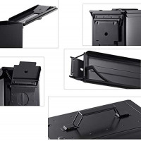 Metal Ammo Case Can – Military and Army Solid Steel 50 Cal Holder Box (Black, 50CAL): Sports & Outdoors