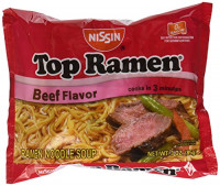 Top Ramen Beef Flavor Noodles, 3 oz : Grocery & Gourmet Food