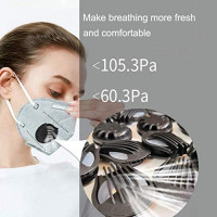 20 PCS Breathing Face Cover Valves Replacement Round Anti Pollution Mouth Filter Accessories (Black): Home Improvement