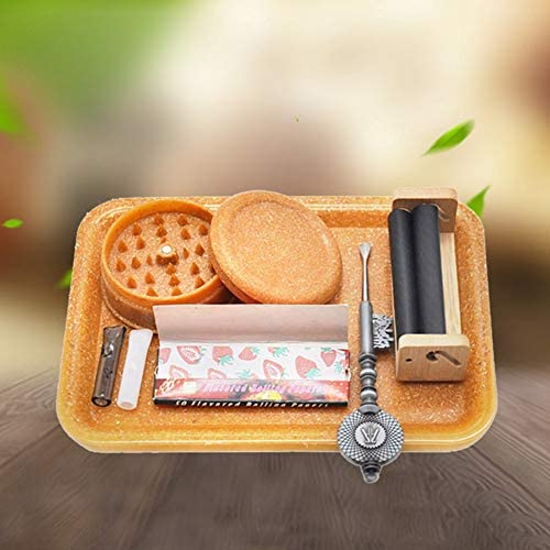 """gerFogoo Eco Friendly Rolling Tray, ABS Cigarette Rolling Tray, Essential Holder Trays, 7""""4.7"""" Tobacco Cigarette Essential Trays Smoke Accessories(Yellow): Health & Personal Care"""