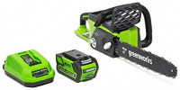 """Greenworks 20312 Gw 40V 16"""" Chainsaw, 4Ah Battery and Charger : Power Chain Saws : Garden & Outdoor"""