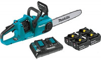 "Makita XCU03PT1 18V X2 (36V) LXT Lithium-Ion Brushless Cordless 14"" Chain Saw Kit with, 4 Batteries (5.0Ah) : Garden & Outdoor"