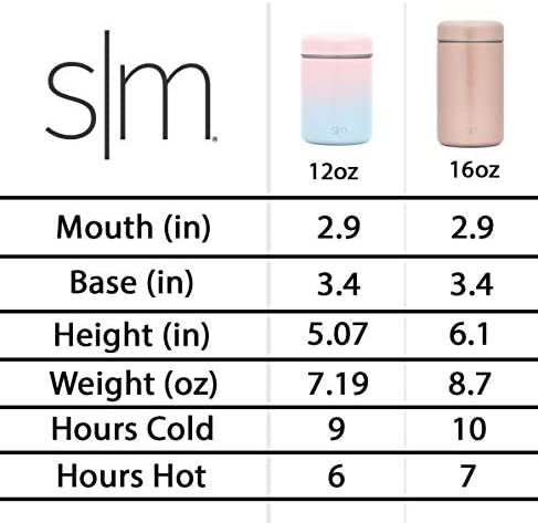 Simple Modern Kids Provision Food Jar for Kids - 12oz Insulated Stainless Steel Lid - Vacuum Insulated Flask Leak Proof Thermos Food Storage Container Flask Ombre: Tropical Seas: Kitchen & Dining
