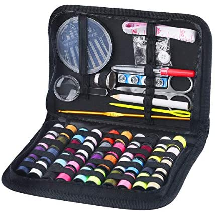 130 Mini Sewing Kit, Southsun DIY Premium Sewing Supplies for Kids, Beginner, Travel, Emergency with Scissors, Thimble, Thread, Needles, Tape Measure, Carrying Case and Accessories: Arts, Crafts & Sewing