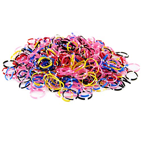 Miuance Circle Multi Candy Color Baby Girl's Kids Hair Holder Hair Tie Elastic Rubber Bands, 1500pcs (1500pcs color H) : Beauty