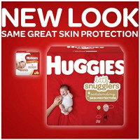 Huggies Little Snugglers Baby Diapers, Size 1, 198 Ct, One Month Supply: Health & Personal Care