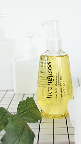[huangjisoo] Pure Perfect Deep Cleansing Oil - Premium K Beauty Makeup Remover for Sensitive Skin, Natural + Organic + Vegan - With Jojoba Oil - 3.3 Fl oz : Beauty