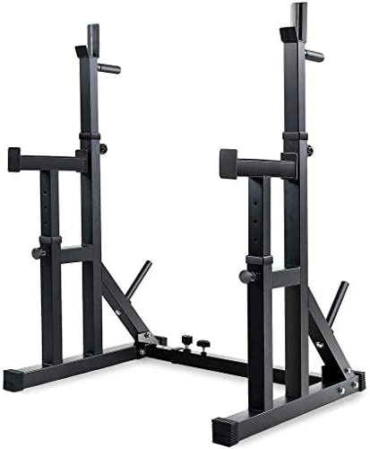 Adjustable Squat Rack Stands Multifunction Barbell Bench Press Dipping Station, Fitness & Bodybuilding, Shipping from The United States (Black): Home & Kitchen