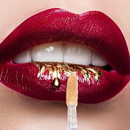 100 Disposable Lip Brushes, Lipstick Applicator, Lip Gloss Wands Blue: Beauty
