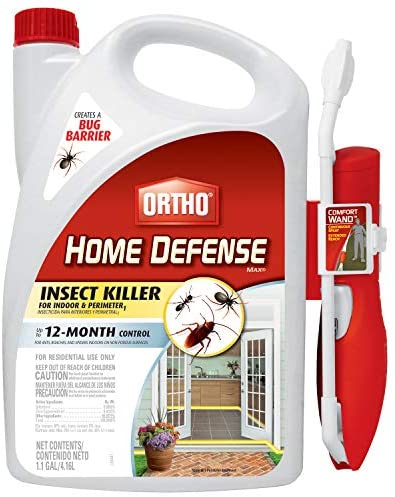 Ortho Home Defense MAX Insect Killer for Indoor & Perimeter1 with Comfort Wand - Kills Ants, Cockroaches, Spiders, Fleas, Ticks & Other Listed Bugs, Creates a Bug Barrier, 1.1 gal. : Home Pest Repellents : Garden & Outdoor