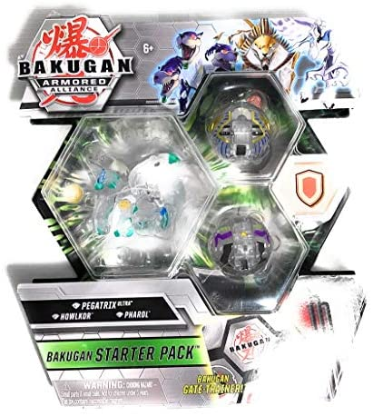 Bakugan Armored Alliance Starter Pack S2 Diamond- Pegatrix Ultra, Collectible Transforming Creatures, for Ages 6 & Up: Toys & Games