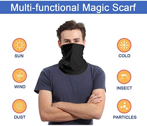 Cooling Neck Gaiters, Dust UV Sun Protection Breathable Face Cover Bandana Balaclava Headwear for Men Women: Clothing