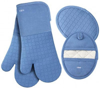 LDTEA Oven Mitts and Pot Holders Sets, 600°F Heat Resistant Platinum-Grade Silicone Oven Mitts, Soft Cotton Terry Oven Mitt, Anti-Slip Oven Gloves and Pot Holders for Kitchen, Baking, BBQ, 4 Pieces: Home & Kitchen