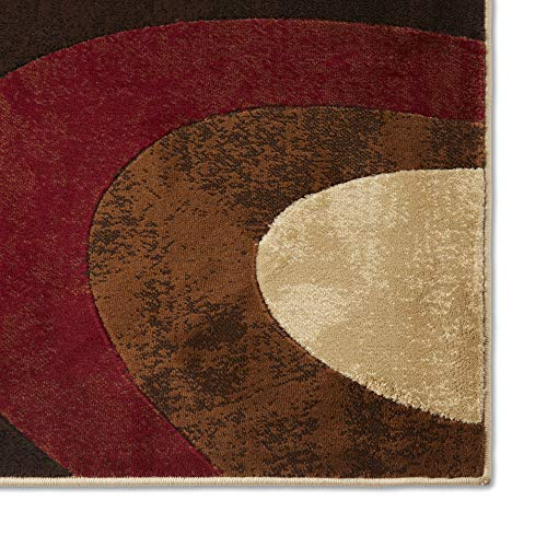 Home Dynamix HD5382 Tribeca Collection 3-Piece Area Rug Set, Brown/Red: Kitchen & Dining
