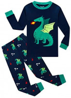 Family Feeling Space Little Boys Pajamas Sets 100% Cotton Clothes Toddler Kids: Clothing