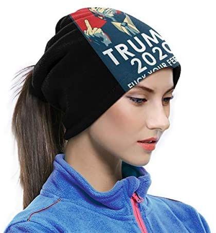 Donald Trump Warm Comfortable Dustproof Sports Breathable Face Shield Seamless Bandana Scarf UV Sport Balaclavas at Men's Clothing store
