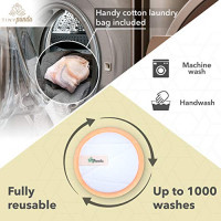 Reusable Bamboo Makeup Remover Pads - 16 Zero Waste Facial Cleansing & Exfoliating Pads With Luxurious Case & 2 Makeup Remover Gloves - Washable Cotton/Bamboo Rounds With Cotton - Tiny Panda: Beauty