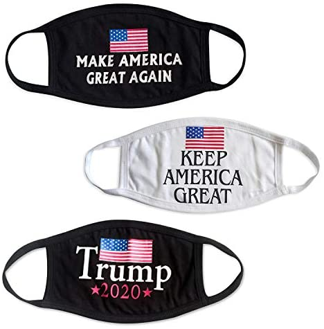 Trump Face Mask Cotton Reusable Washable Breathable 2020 Black at Men's Clothing store