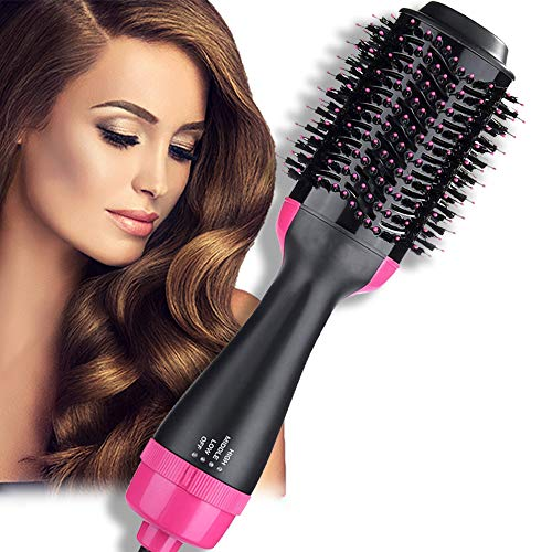 Hair Dryer Brush, Air Hair Brush 4 in 1 Electric One Step Hair Dryer Volumizer with Negative Ion Curling Dryer Brush Styler, Styling Straightening and Curling : Beauty
