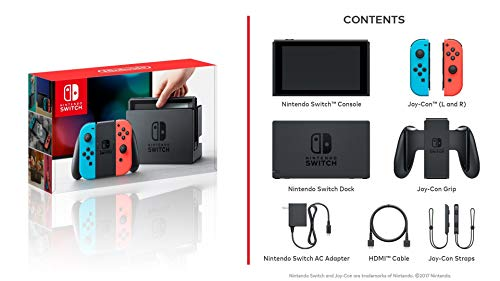 Nintendo Switch – Neon Red and Neon Blue Joy-Con (Renewed): Video Games