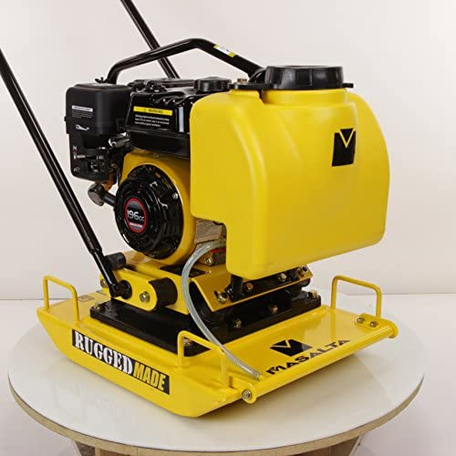 MS100 Plate Compactor w/ 6.5 HP Loncin Engine & Water Tank Assembly: Home Improvement